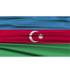Flag of Azerbaijan with old texture vector image