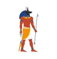 flat anubis egypt god icon vector image vector image