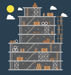 Flat design of construction site vector