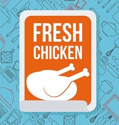 Fresh chicken vector