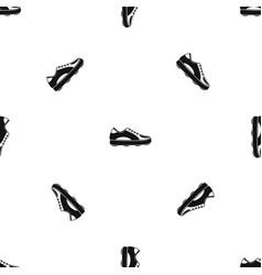 Golf shoe pattern seamless black vector