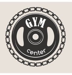 Gym fitness symbols badge vector image vector image