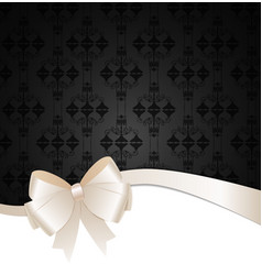 Invitation Card with Bow Ribbon and Copy Space vector image vector image