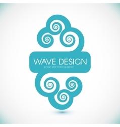 Logo Design Wave Element vector image