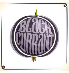 Logo for blackcurrant vector