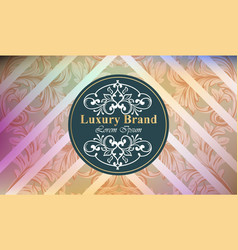 luxury brand card with luxurious ornament vector image