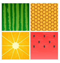 Minimalistic ripe fruits vector