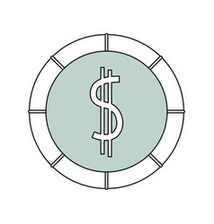 Money coin isolated vector