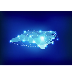 North Carolina state map polygonal with spot vector image vector image