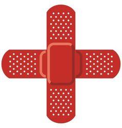 Red cross - Adhesive bandage vector image
