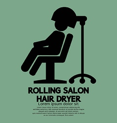 Rolling salon hair dryer vector