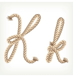 Rope alphabet Letter K vector image vector image