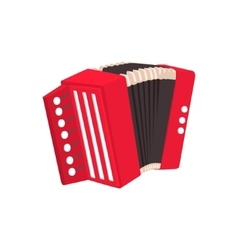 Russian button accordion vector