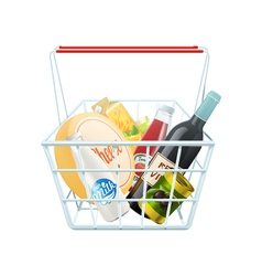 Shopping basket concept vector