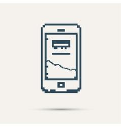 Simple stylish pixel icon phone design vector image
