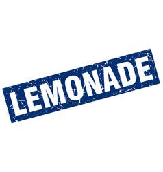 Square grunge blue lemonade stamp vector