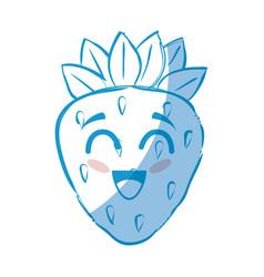 Strawberry fruit icon vector