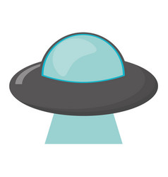 ufo vehicle spatial image vector image vector image