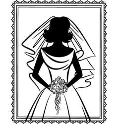 Vintage wedding lady vector