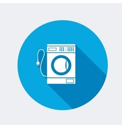 Washing machine icon home equipment symbol vector