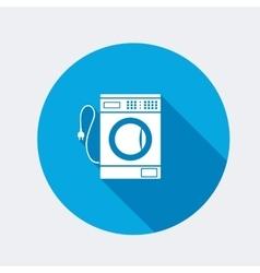 Washing machine icon home equipment symbol vector