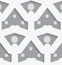 White shapes with big and small dots on gray vector image vector image