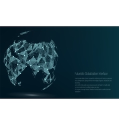 World Map Point Asia vector image