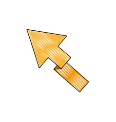 Yellow arrow direction location up vector
