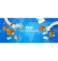 Tpp trans pacific partnership agreement free vector