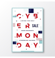 Cyber monday modern typography swiss style poster vector