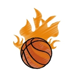 Basketball icon image vector