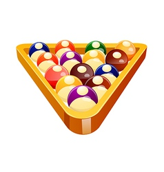 Icon pool ball vector