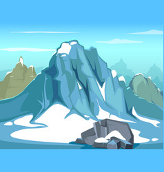 Simple background with rock vector