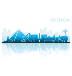 Attractions africa abstract landscape vector