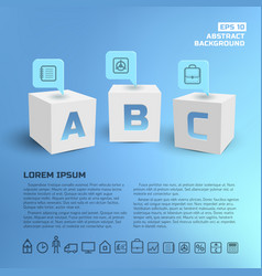 Business pointers at cubes background vector