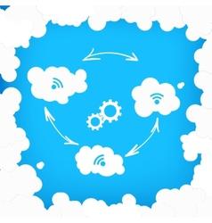 Concept of modern cloud technologies vector