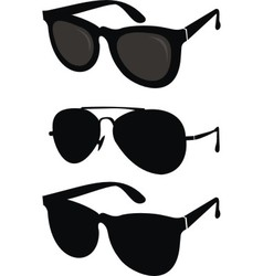 Classical and sport sunglasses vector