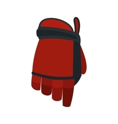 Hockey glove flat icon vector