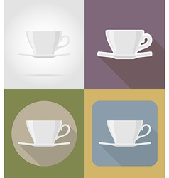 objects for food flat icons 04 vector image