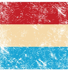 Luxembourg retro flag vector