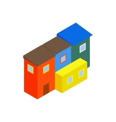Argentina houses icon isometric 3d style vector