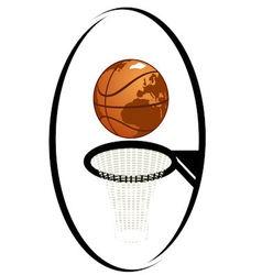 Basketball 1 vector image vector image