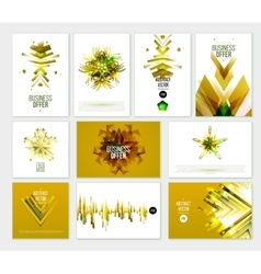 Business abstract golden template vector