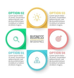 Business diagram with 4 steps vector image vector image