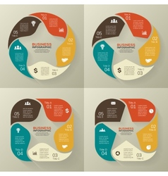 Circle retro old infographic cycle diagram vector