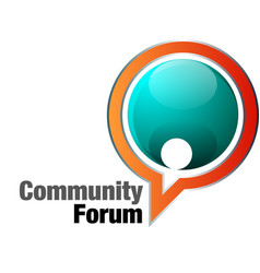 community forum vector image