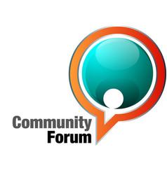 Community forum vector