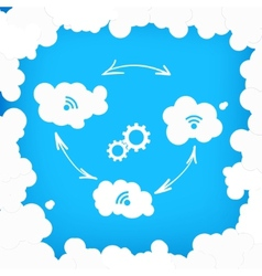 Concept of modern cloud technologies vector image vector image