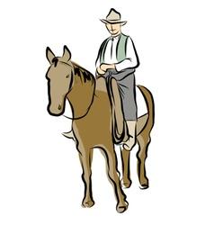 Cowboy1 vector