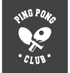 emblem Ping Pong vector image vector image